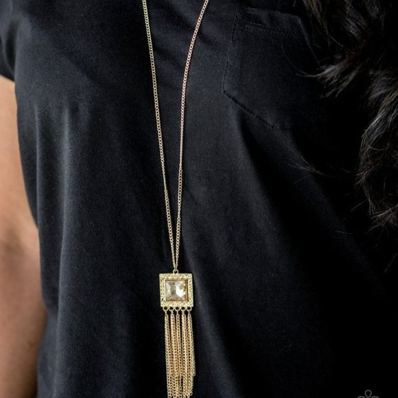 Shimmer Sensel Gold Necklace